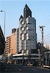 Nakagin Capsule Tower, Japan, 1972. Architect: Kisho Kurokawa    Stock Photo - Premium Rights-Managed, Artist: Arcaid, Code: 845-02724809