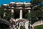 Parc Guell, Barcelona, Spain. (1900-14). Architect: Gaudi    Stock Photo - Premium Rights-Managed, Artist: Arcaid, Code: 845-02724853