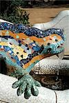 Parc Guell, Barcelona, Spain. (1900-14). Architect: Gaudi    Stock Photo - Premium Rights-Managed, Artist: Arcaid, Code: 845-02724854
