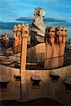 Casa Mila (La Pedrera), Barcelona. Architect: Gaudi    Stock Photo - Premium Rights-Managed, Artist: Arcaid, Code: 845-02724864