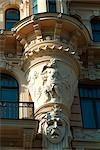 Detail, Art Nouveau Residence, Riga    Stock Photo - Premium Rights-Managed, Artist: Arcaid, Code: 845-02724942