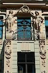 Detail, Art Nouveau Residence, Riga    Stock Photo - Premium Rights-Managed, Artist: Arcaid, Code: 845-02724943
