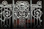 Gate Detail, Art Nouveau Residence, Riga    Stock Photo - Premium Rights-Managed, Artist: Arcaid, Code: 845-02724946