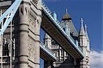 Tower Bridge, London, 1886 - 1894. Detail of high-level walkways. Architect: Horace Jones    Stock Photo - Premium Rights-Managed, Artist: Arcaid, Code: 845-02725141