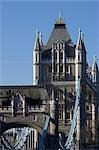 Tower Bridge, London, 1886 - 1894. Detail of towers. Architect: Horace Jones    Stock Photo - Premium Rights-Managed, Artist: Arcaid, Code: 845-02725143