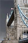 Tower Bridge, London, 1886 - 1894. Detail of towers. Architect: Horace Jones    Stock Photo - Premium Rights-Managed, Artist: Arcaid, Code: 845-02725145