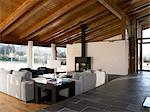 House in La Cerdanya, Girona. Living area. Architect: Carles Gelpf i Arroyo    Stock Photo - Premium Rights-Managed, Artist: Arcaid, Code: 845-02725290