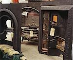 Home Improvement - Architectural Salvage cast iron victorian fireplaces with price tags    Stock Photo - Premium Rights-Managed, Artist: Arcaid, Code: 845-02725553