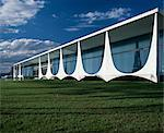 Alvorada Palace, the President's Residence, Brasilia, 1958. Architect: Oscar Niemeyer    Stock Photo - Premium Rights-Managed, Artist: Arcaid, Code: 845-02725593
