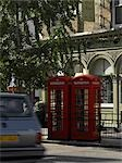 Red phone boxes and pub, Marylebone High Street, London.    Stock Photo - Premium Rights-Managed, Artist: Arcaid, Code: 845-02725713