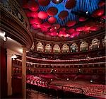 The Royal Albert Hall, Interior. Main space. Architect: Captain Francis Fowke and Colonel H.Y. Darracott Scott Royal Engineers .    Stock Photo - Premium Rights-Managed, Artist: Arcaid, Code: 845-02725777