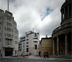 BBC Broadcasting House and Portland Place, London. Architect: George Val Myer, John Nash.    Stock Photo - Premium Rights-Managed, Artist: Arcaid, Code: 845-02725792