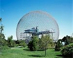 Biosphere, Restored American Pavilion Expo '67, St Helen's Island, Montreal, 1967. Architect: Buckminster Fuller and Shoji Sadao    Stock Photo - Premium Rights-Managed, Artist: Arcaid, Code: 845-02727029