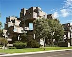 Habitat '67, 2600, Pierre Dupuy Avenue, Montreal, 1967. Exterior. Architect: Moshe Safdie    Stock Photo - Premium Rights-Managed, Artist: Arcaid, Code: 845-02727032