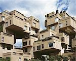 Habitat '67, 2600, Pierre Dupuy Avenue, Montreal,1967. Exterior. Architect: Moshe Safdie    Stock Photo - Premium Rights-Managed, Artist: Arcaid, Code: 845-02727034