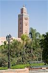 Kotoubia Mosque, Marrakech, Morocco. 1195. Minaret and garden.    Stock Photo - Premium Rights-Managed, Artist: Arcaid, Code: 845-02727074