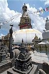 Swayambhunath or Monkey Temple, Kathmandu, Nepal. Stupa and dome.    Stock Photo - Premium Rights-Managed, Artist: Arcaid, Code: 845-02727101