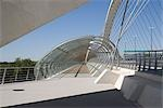 Third Millenium Bridge, Expo Zaragoza 2008, Zaragoza. Architect: Juan José Arenas.    Stock Photo - Premium Rights-Managed, Artist: Arcaid, Code: 845-02727792