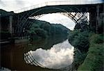 Iron bridge (1777 - 1779. ), Ironbridge, Coalbrookdale, Shropshire, England, UK - World Heritage Site and Birthplace of the Industrial Revolution. Architect: Thomas F Pritchard Abraham Darby III    Stock Photo - Premium Rights-Managed, Artist: Arcaid, Code: 845-02727913