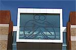 Baltic Centre for Contemporary Arts, Gateshead, Newcastle upon Tyne. Detail window over main entrance. Ellis Williams Architects    Stock Photo - Premium Rights-Managed, Artist: Arcaid, Code: 845-02728530