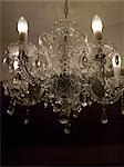 Cut glass chandelier    Stock Photo - Premium Rights-Managed, Artist: Arcaid, Code: 845-02728705
