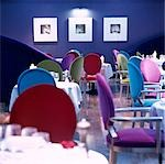 G Hotel, Galway, Ireland - Dining Room. Designer, Philip Treacey. Douglas Wallace Architects. Interiors: Stephen Treacey.    Stock Photo - Premium Rights-Managed, Artist: Arcaid, Code: 845-02728816