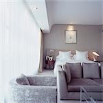 G Hotel, Galway, Ireland - Bedroom. Designer, Philip Treacey. Douglas Wallace Architects. Interiors: Stephen Treacey.    Stock Photo - Premium Rights-Managed, Artist: Arcaid, Code: 845-02728833