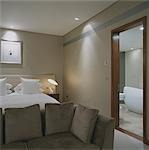 G Hotel, Galway, Ireland - Bedroom. Designer, Philip Treacey. Douglas Wallace Architects. Interiors: Stephen Treacey.    Stock Photo - Premium Rights-Managed, Artist: Arcaid, Code: 845-02728834