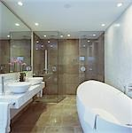 G Hotel, Galway, Ireland - Bathroom. Designer, Philip Treacey. Douglas Wallace Architects. Interiors: Stephen Treacey.    Stock Photo - Premium Rights-Managed, Artist: Arcaid, Code: 845-02728840