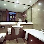 G Hotel, Galway, Ireland - Bathroom. Designer, Philip Treacey. Douglas Wallace Architects. Interiors: Stephen Treacey.    Stock Photo - Premium Rights-Managed, Artist: Arcaid, Code: 845-02728841