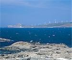 Coastal Wind Farm, Muxia, Galicia.    Stock Photo - Premium Rights-Managed, Artist: Arcaid, Code: 845-02729432