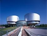 European Court of Human Rights, Strasbourg, 1989 - 1995. Architect: Richard Rogers Partnership    Stock Photo - Premium Rights-Managed, Artist: Arcaid, Code: 845-02729433