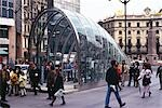Metro Station, Bilbao, 1995. Architect: Norman Foster and Partners    Stock Photo - Premium Rights-Managed, Artist: Arcaid, Code: 845-02729574