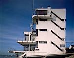 Royal Corinthian Yacht Club, Burnham-on-Crouch, Essex., 1931. Architect: Joseph Emberton    Stock Photo - Premium Rights-Managed, Artist: Arcaid, Code: 845-02729629
