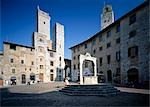 Piazza Della Cisterna San Gimignano, Tuscany.    Stock Photo - Premium Rights-Managed, Artist: Arcaid, Code: 845-02729747