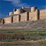 Berlanga de Duero, Soria, Castile, Spain. Keep with bulging round towers dates from the Sixteenth Century.    Stock Photo - Premium Rights-Managed, Artist: Arcaid, Code: 845-02729749