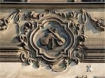 Mala Strana Palace, Prague, 1624 - 1630. Decorative Plasterwork panel of three violins over doorway. Architect: Andrea Spezza    Stock Photo - Premium Rights-Managed, Artist: Arcaid, Code: 845-02729794