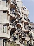 La Pedrera (Casa Mila), Barcelona, Spain. 1906-1912. Architect: Antoni Gaudi.    Stock Photo - Premium Rights-Managed, Artist: Arcaid, Code: 845-02729821