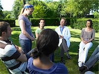 Circle of people in rehab,  outdoors Stock Photo - Premium Royalty-Freenull, Code: 649-02731677