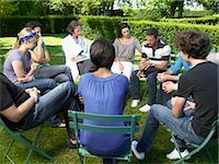 Circle of people in rehab,  outdoors Stock Photo - Premium Royalty-Freenull, Code: 649-02731679