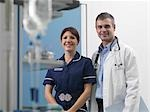 Doctor and nurse in hospital environment Stock Photo - Premium Royalty-Free, Artist: Robert Harding Images, Code: 649-02732971