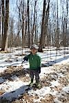 Boy Standing in Forest    Stock Photo - Premium Rights-Managed, Artist: Derek Shapton, Code: 700-02738114