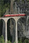 Train on Landwasser Viaduct, Graubunden, Switzerland    Stock Photo - Premium Rights-Managed, Artist: Raimund Linke, Code: 700-02738350