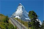 Gornergrat Bahn and Matterhorn, Zermatt, Switzerland    Stock Photo - Premium Rights-Managed, Artist: Raimund Linke, Code: 700-02738356
