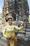 Dancer, Bayon Temple, Angkor Thom City, Siem Reap, Cambodia    Stock Photo - Premium Rights-Managed, Artist: dk & dennie cody, Code: 700-02738482