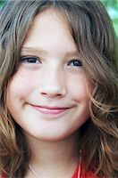 preteen long hair - Portrait of Young Girl    Stock Photo - Premium Royalty-Freenull, Code: 600-02738682