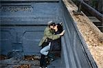 Couple Embracing    Stock Photo - Premium Rights-Managed, Artist: Steve Prezant, Code: 700-02738711