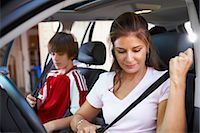 Mom Taking Son to Soccer Game    Stock Photo - Premium Rights-Managednull, Code: 700-02738851