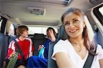 Mom Driving Sons to Karate and Soccer    Stock Photo - Premium Rights-Managed, Artist: SimplyMui, Code: 700-02738853