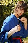 Portrait of Teenage Boy in Karate Uniform    Stock Photo - Premium Rights-Managed, Artist: SimplyMui, Code: 700-02738859